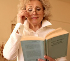 Reading glasses can help to compensate for presbyopia